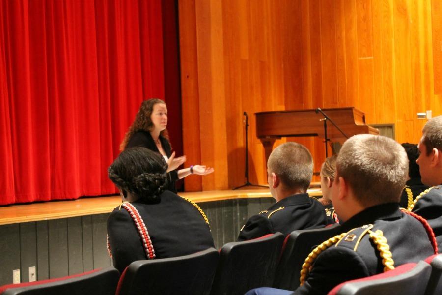 Speaker Sherri Sharpe visits JROTC classes