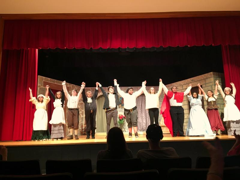 The 2016 Drama cast begins to bow for their curtain call.