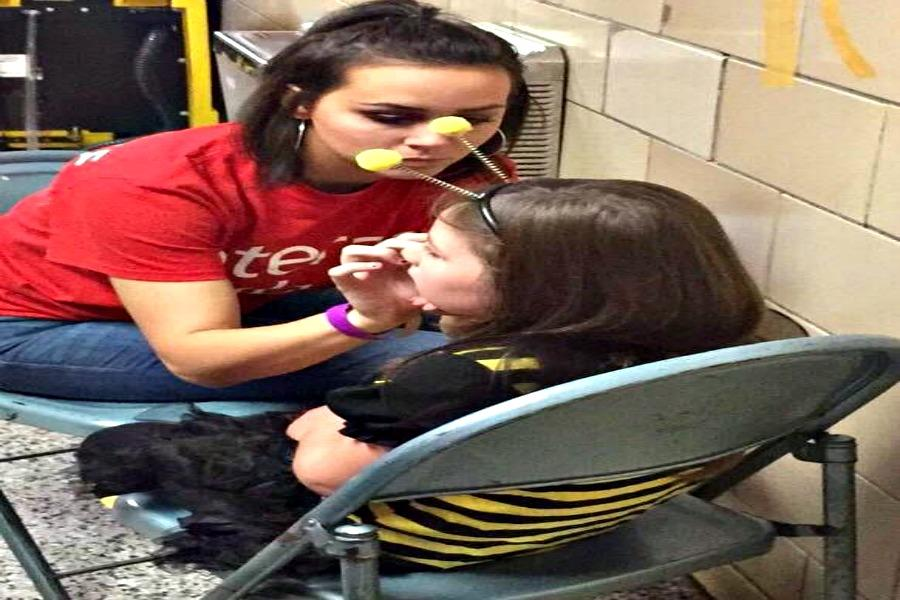 Senior Alyssa Harville put her face painting skills to the test at Fright Night.