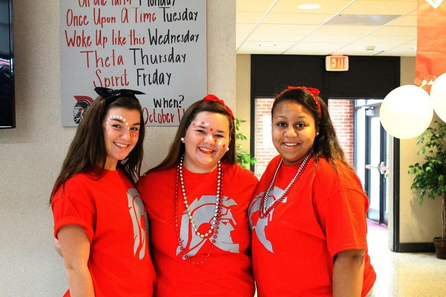 Joan Wynne Reynolds, Megan Saunders, and Makayla Law are part of the class of 2018.