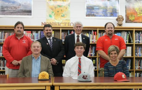 Back row, from left to right: head coach Barry Shelton, principal Brian Boles, assistant principal and athletic director Ed Newnam, and assistant coach Mark Austin  Bottom row, left to right: Matt's father, Matt Yarbrough, and Matt's mother