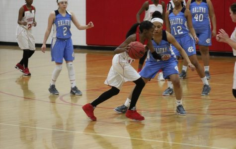 Girls basketball team exemplifying Trojan pride