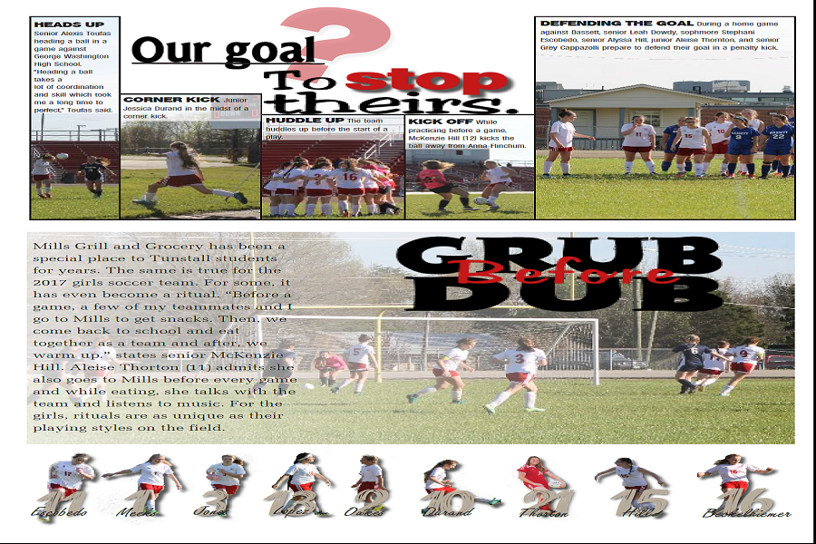 This is a preview of the yearbook pages featuring the girls soccer team.