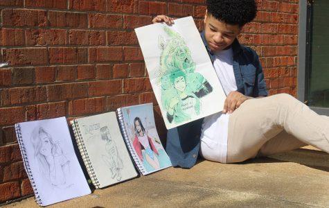 If you give a kindergarten student art time: Brandon Harris' development as an artist