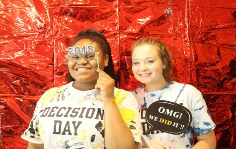 Seniors celebrate Decision Day with Chick-Fil-A, gift drawings, and a photo booth