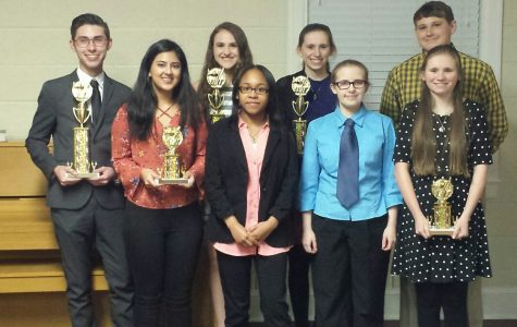 Trojans place in Optimist Club oratorical contest