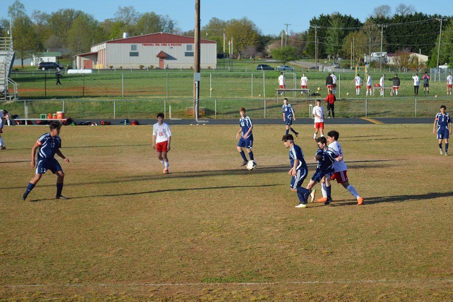 JV soccer falls short of a win against the GW eagles