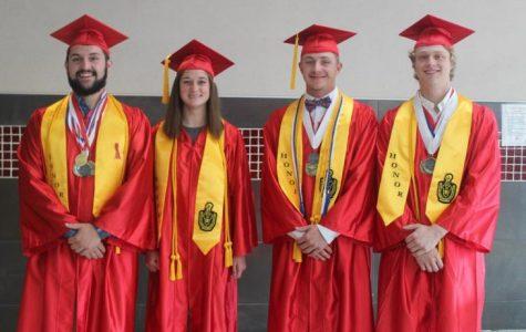 Jarrett, McQuaid, Stowe, and Toufas tie for valedictorian
