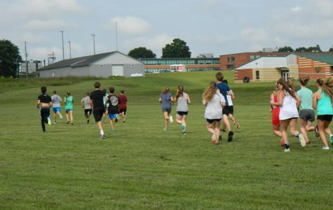 cross country runners practice for their first meet