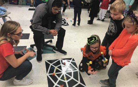 Staff and students volunteer at Stony Mill's Fright Night