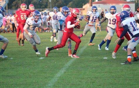 Junior Brandon Jamison finds a lane behind Senior Joce Covington