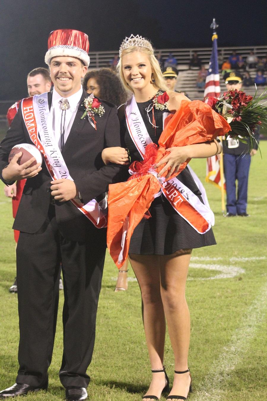 Senior homecoming king and queen Jeremy Carter and Lauren Van Allen
