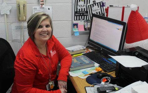 Mrs. Calloway lends a helping hand in special education
