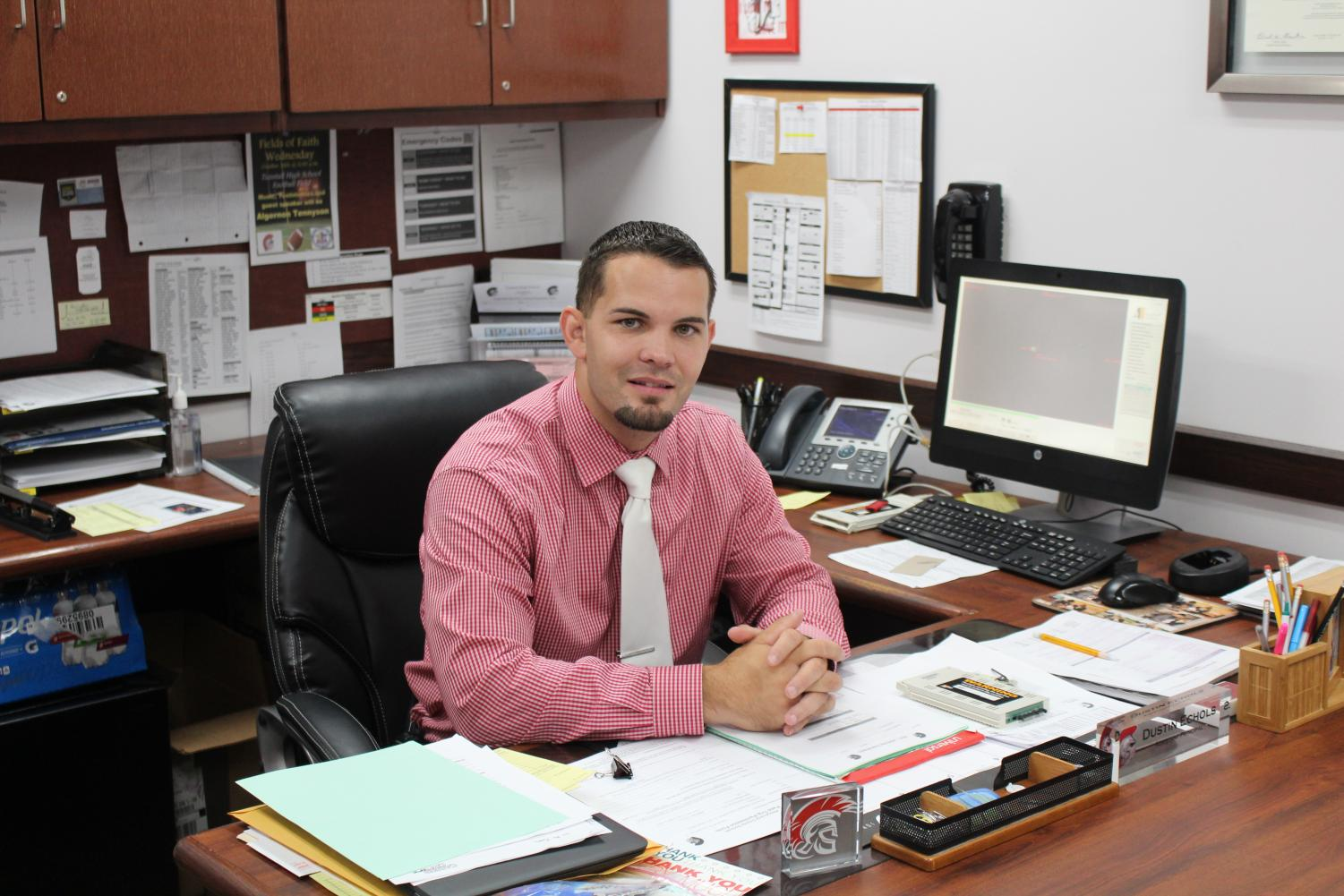 Mr. Echols joins Tunstall administration for his first full year.