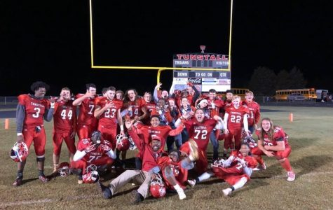 Trojans taste victory on senior night