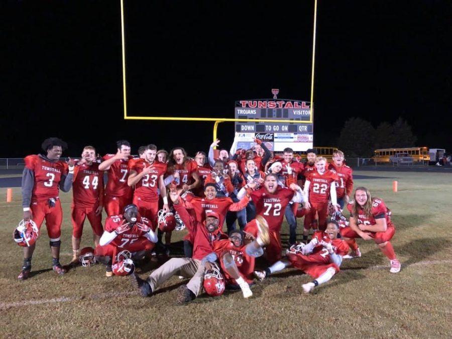 Trojans taste victory on senior night