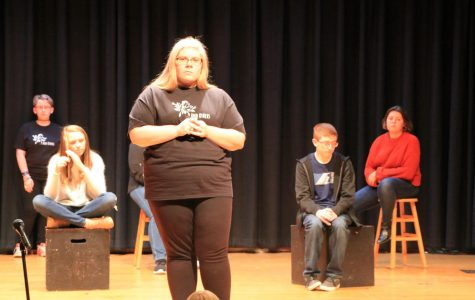 """…And Others"" cast performs for student body"