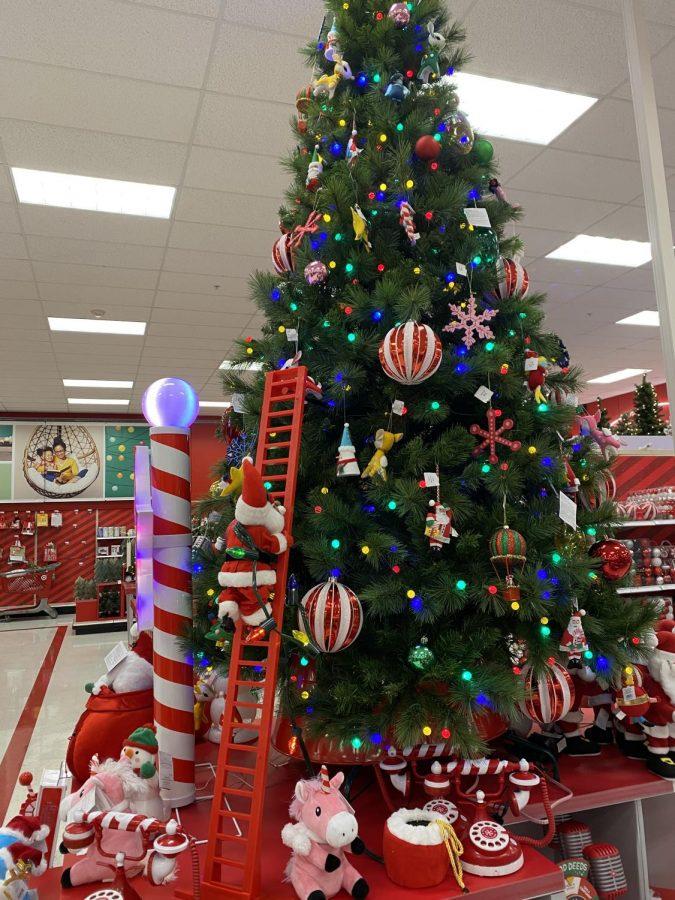 Christmas trees were on display in Target before Halloween.