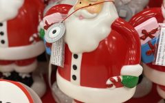 Santas have been on display in stores since October.