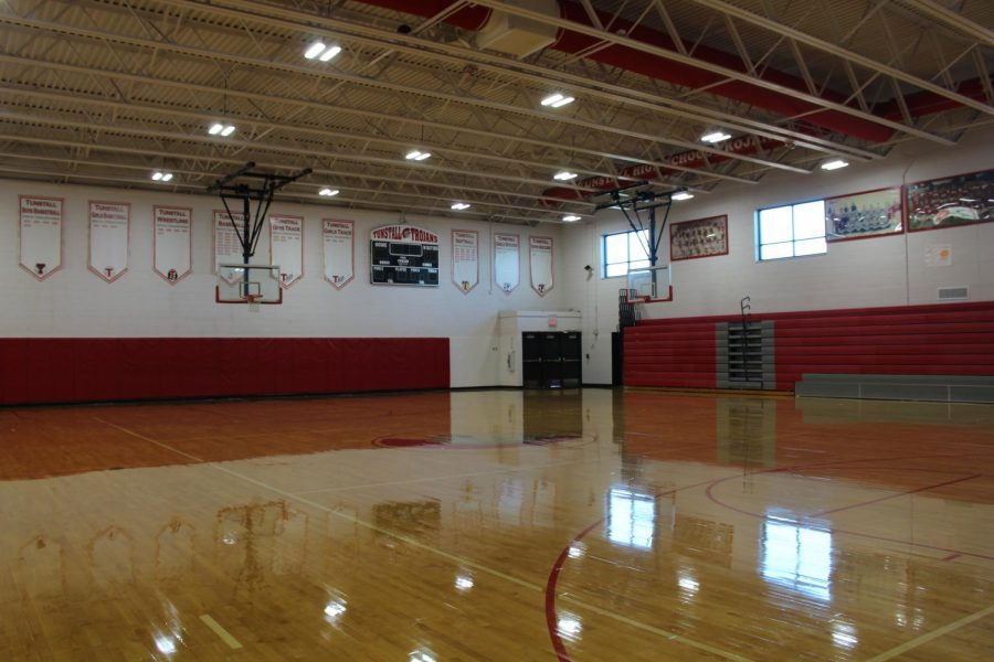 Tunstall's gym will sit empty another week as winter sports tryouts are postponed.